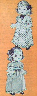 Vintage GIRL WITH BEAR Doll Pattern - 22 inches tall