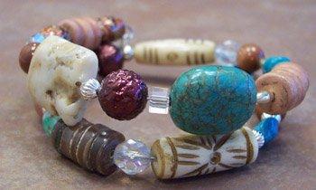 Turquoise and gemstone bracelet