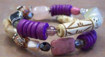 Rose Quartz/Rhodonite gemstone bracelet