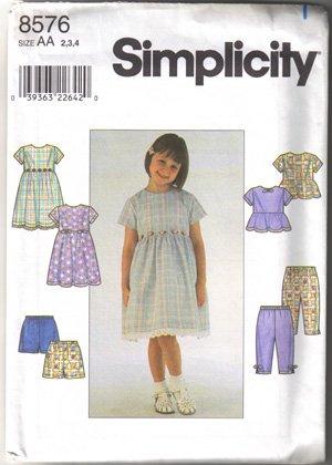 SIMPLICITY Pattern-Child's Dress, Top, Pants (PA7)