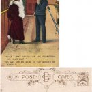 Humorous Postcard Sailor and Lady #PC32