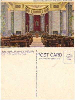 LN PC�Senate Chamber, LOUISIANA State Capitol, Baton Rouge #PC54