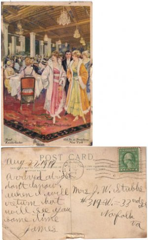After the Theater, HOTEL KNICKERBOCKER, NY, Postcard #PC57
