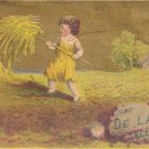 DE LAND'S Saleratus Trade Card, ca. 1880's, TC2