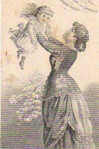 CANFIELDE Dress Shield Trade Card, ca. 1880's, TC14