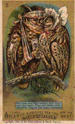 ATLANTIC & PACIFIC TEA CO'S Trade Card, c. 1883, TC16