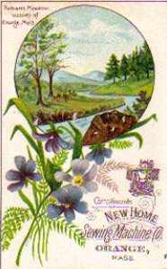 NEW HOME SEWING MACHINE CO. Trade Card, ca. 1880's, TC23