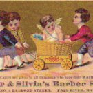 DYER & SILVIA'S BARBER SHOP Trade Card, ca. 1880's, TC26