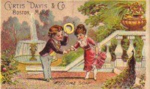 "CURTIS DAVIS & CO. ""Welcome Soap"" Trade Card, ca. 1880's, TC31"
