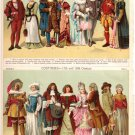 """Costumes—16th Century"" and ""Costumes—17th Century"" Color Plate,  BP22"