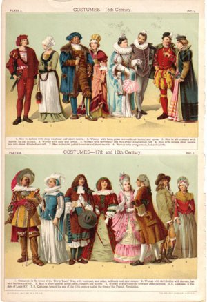 �Costumes�16th Century� and �Costumes�17th Century� Color Plate,  BP22