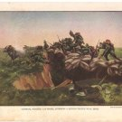 Germans Storming British Trench Color Plate WWI,  BP33