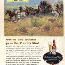 1948 LOOK Budweiser Ad Western Art AD134