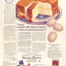 1926 Swans Down Cake Flour Ad  AD147