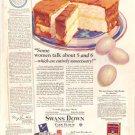 1926 Swans Down Cake Flour Ad  AD147