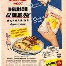 1948 Delrich E-Z Color Pak Margarine Ad, AD176