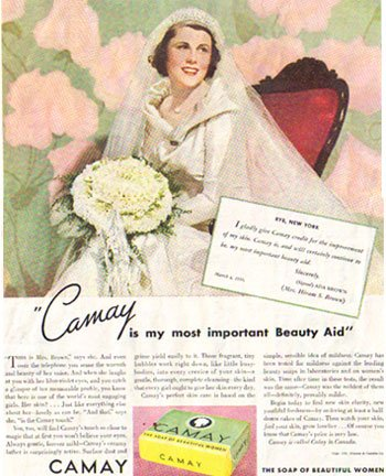 CAMAY Magazine Ad Ivory Flakes and Soap 1936, AD120