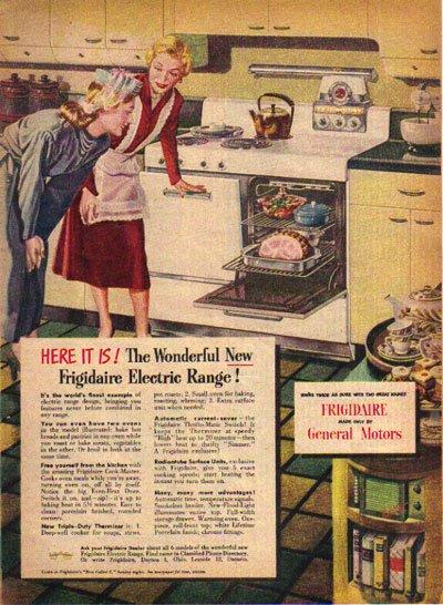 FRIGIDAIRE Electric Range Ad, 1948, Aad4