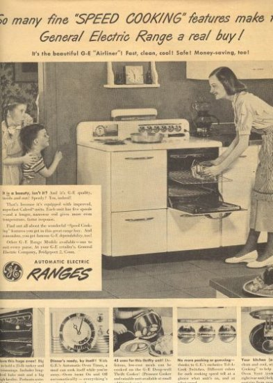 GENERAL ELECTRIC Range 1948 AD, AD108