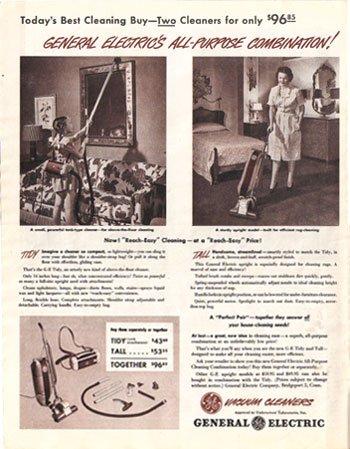 1948 LOOK General Electric Vacuums Ad, AD137