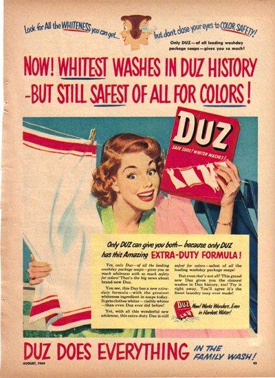 Duz Safe Suds Ad, 1949, AD156