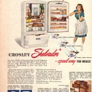 Crosley Shelvador Appliances Ad, 1947, AD158