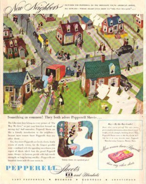 Lady Pepperell ad, artwork Ric Howard, 1946, AD164