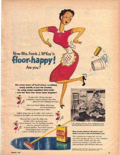 Glo-Coat Ad, Mrs. Frank J. McKay, Schiller Park, IL, 1951, AD170