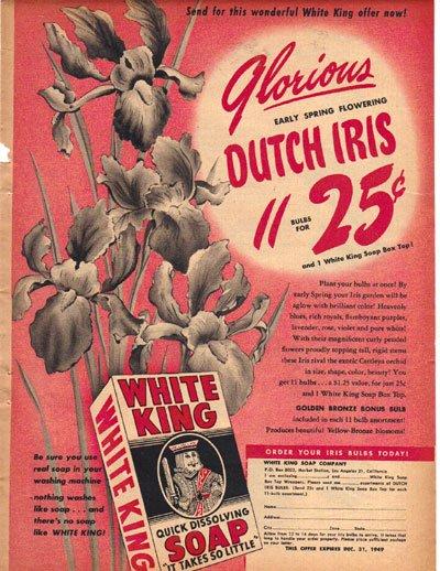 White King Quick Dissolving Soap Ad, 1949, AD172