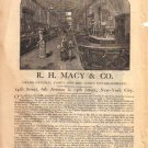 R. H. Macy & Co. New York City Ad, 1882, AD146