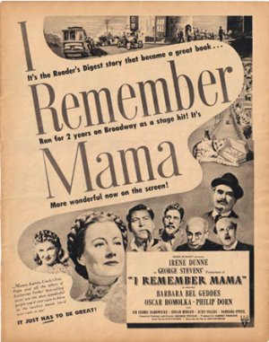 1948 LOOK I Remember Mama Ad Vaseline AD124