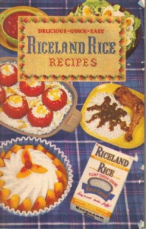 Riceland Rice Recipes Cookbook, Vintage 1952, CB1