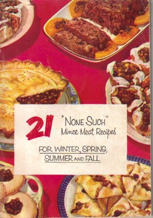 """None Such"" Mince Meat Recipes Cookbook, Vintage 1952, CB2"