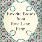 """Favorite Breads from Rose Lane Farm"" Cookbook, Vintage 1960, CB9"