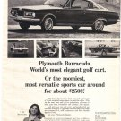 1965 True, 1965 Plymouth Barracuda Ad, AD167