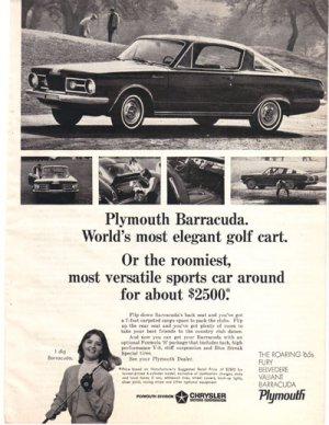 1965 True, 1965 Plymouth Barracuda Ad, AD167