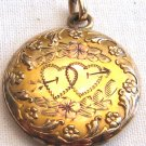 Vintage Bates & B Gold Locket, VJ7