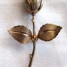 Vintage Gold Tone Rose Brooch, VJ9
