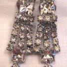 Vintage Rhinestone Clip Earrings, VJ13