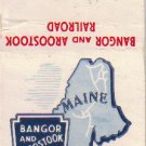 Match Book Cover, Bangor and Aroostook Railroad, RR1