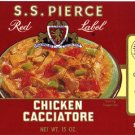 S. S. Pierce Chicken Cacciatore color label, LAB2