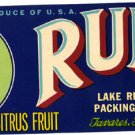 Ruby Citrus Fruit color label, LAB5