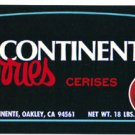 John A Continente Cherries color label, LAB6