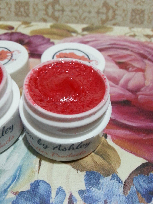 Cherry Flavored Shea Butter Lip Balm || Organic Lip Care || Moisturizing Lip Balm || All Natural