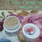 4oz Hemp & Brown Sugar Shea Butter Body Scrub || Exfoliating Body Scrub || All Natural