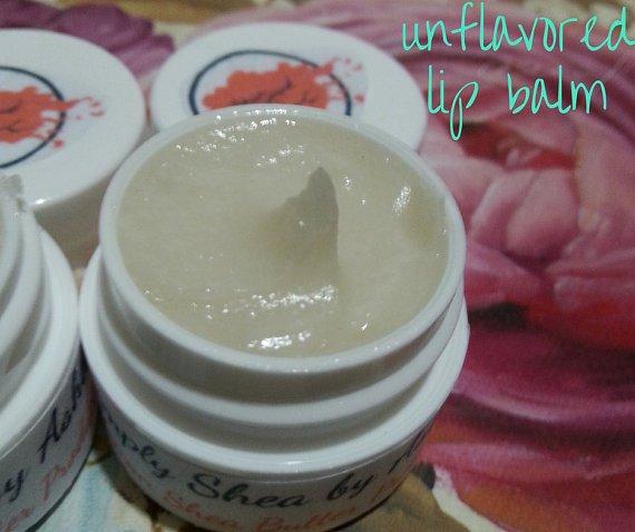 . Unflavored Shea Butter Lip Balm    Organic Lip Care    Moisturizing Lip Balm    Handmade