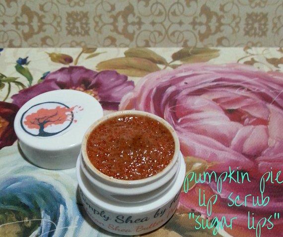 Pumpkin Pie flavored Sugar Lips lip Scrub ALL NATURAL || All Natural || Handmade
