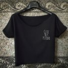 Cute But Psycho crop top AF Pocket Logo T Shirt Top Festival Concert Dope tee 1