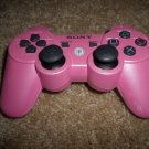 PINK SONY PLAYSTATION 3 / PS3 DUALSHOCK 3 WIRELESS CONTROLLER