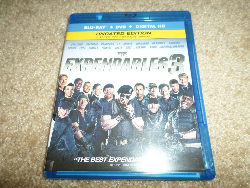 The Expendables 3 (Blu-ray/DVD, 2014, 2-Disc Set, Ultraviolet; Includes...